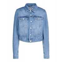 Acne Studios Tag Denim Jacket - Faded Jean Jacket - ShopBAZAAR