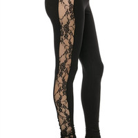 Side Lace Leggings