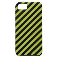 Acid Green And Oblique Black Stripes Patterns iPhone 5 Covers from Zazzle.com