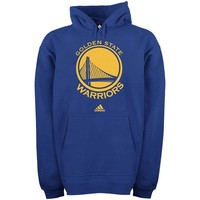 adidas Golden State Warriors Primary Logo Pullover Hoodie Sweatshirt - Royal Blue