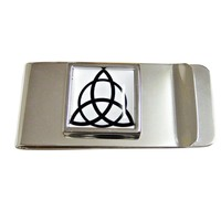 Square Celtic Design Money Clip