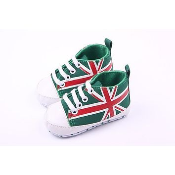 Children Kids Girls Boys First Walkers Shoes Non-Slip First Walkers Newborn Infantil Flag Baby Toddlers Birthday Gift -17 BM88