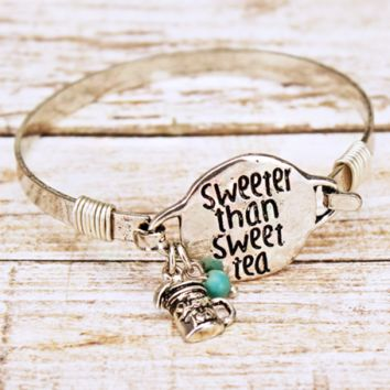 Sweeter than Sweet Tea Mason Jar Bangle