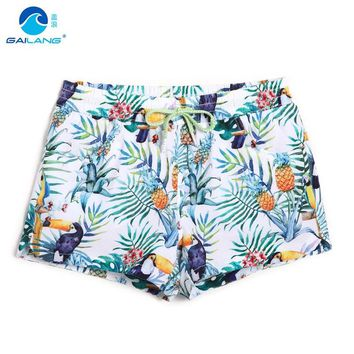 Women board shorts swimming short swimsuits bird parttern sexy quick dry lady running shorts joggers boardshorts sweat polyester