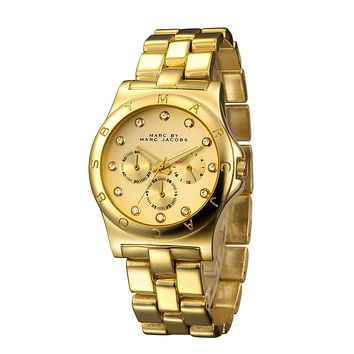 MJ Marc BY Marc Jacobs passion ,deep feeling,shiny, fashion watch L-PS-XSDZBSH Gold