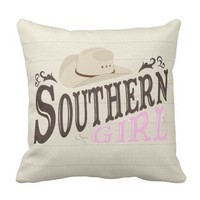Southern Girl Throw Pillows