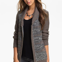 Rubbish® Drop Stitch Stripe Cardigan (Juniors) | Nordstrom