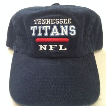 BRAND NEW TENNESSEE TITANS REEBOK NFL NAVY CURVED BRIM RELAX FIT ADJUSTABLE HAT