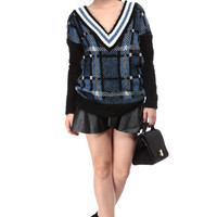 Rookie Plaid Eyelash Sweater
