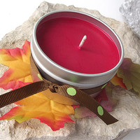 Apple Harvest scented Soy Candle - Hand Poured Soy Candle - 6 ounce Tin