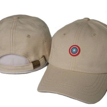 Day-First™ Khaki Captain America Embroidered Baseball Cap Hat
