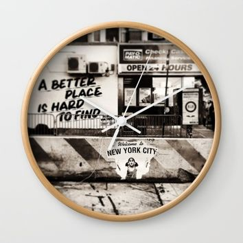 Welcome To NY Wall Clock by EXIST NYC
