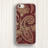 gold fern pattern cases for  iphone 5c cases,iphone 5s cases,iphone 4 cover ,iphone 4s cases,iphone 5 cases, d010