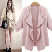 Slim cardigan windbreaker women trench coat for women women's trench coats overcoat