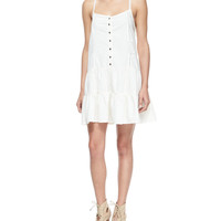 The Florence Poplin Dress, Dirty White, Size: