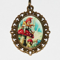 Playful Gnomes Pendant Necklace