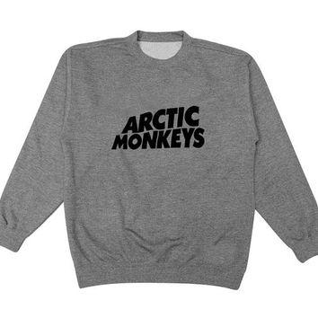 arctic monkeys sweater Gray Sweatshirt Crewneck Men or Women for Unisex Size with variant colour
