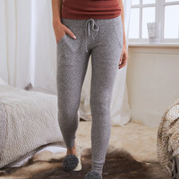 Aerie Ribbed Sleep Legging, Dark Heather