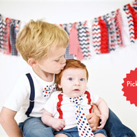 4th of July Sibling Outfits for Brothers. Sibling Set. Sibling Shirts. Brother Shirts. Baby boy. Toddler boy. Patriotic. 4th July. Chevron.