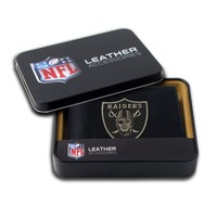 NFL Oakland Raiders Embroidered Genuine Leather Billfold Wallet