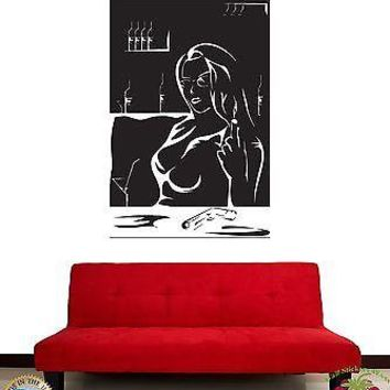 Wall Stickers Vinyl Decal Gangster Sexy Girl With Gun Unique Gift z1186