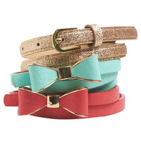 Bow & Glitter Belt Set | Wet Seal
