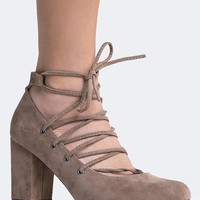 Lace Up Pump - ZOOSHOO