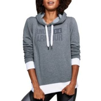 Under Armour Women's Threadborne Fleece Wordmark Logo Hoodie | DICK'S Sporting Goods