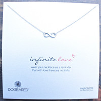 dogeared infinite love dainty necklace, sterling silver