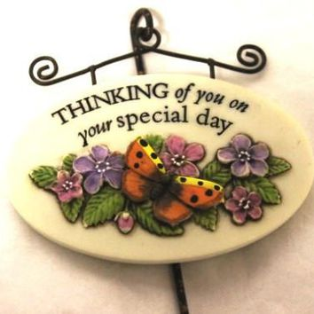 Magnet Oval Plaques And Stake-Special Day