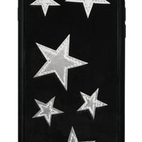 Black Velvet Silver Stars iPhone 6 Plus/6s Plus Case