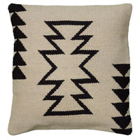 Southwest 18x18 Jute Pillow, Ivory