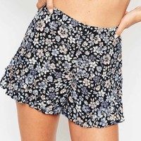 ASOS Shorts with Frill Side in Pretty Floral Print
