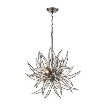 Naples 8-Light Pendant in Dark Graphite with Clear Crystal