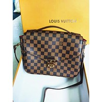 LV Louis Vuitton Fashion Women Monogram Shopping Leather Crossbody Shoulder Bag Satchel Bag