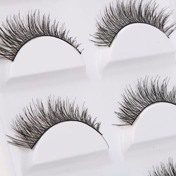5 Pairs Thick Soft Cross Fake Eye Lash