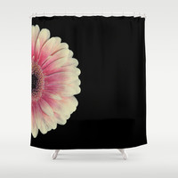 colored summer ~ red and black gerbera  Shower Curtain by Steffi ~ findsFUNDSTUECKE