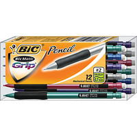 BIC® BICMatic Grip Mechanical Pencils, 0.5 mm, Pack Of 12 Item # 421525