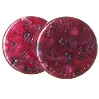 Organic Cranberry Jasper Stone Plugs (3mm-25mm)