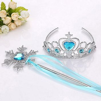 New Girls Princess Crown Hair Accessories Bridal Crown Crystal Diamond Tiara Hoop Headband Hair Bands For Kids Party Hairbands