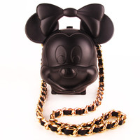 Black Minnie Mouse Chain Bag