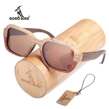 BOBO BIRD Nature Original Wooden Sunglasses For Women And Men Fashion Beach Sun Glasses With Creative Bamboo Box As Best Gift