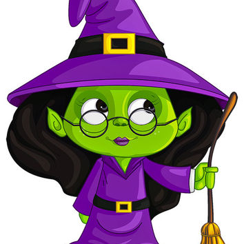 Witch Image, Halloween Witch Image, Green Witch Image,Large Teen Witch, Transparent Cutout, Wall Décor, Teen Room,Teen Décor, Home Décor