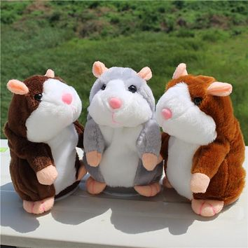 1PC High Quality Talking Hamster Pet Plush Toy Repeat What You Say Educational Toy for Children Gift