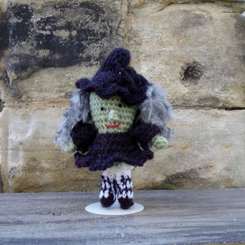 Halloween Witch Doll - Crochet Amigurumi Stuffed Animal/Doll