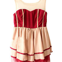 Palace Style Sleeveless Dress [NCSKK0077] - $32.99 :