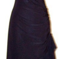 Ruched Ruffle Holiday Party Cocktail Halter Dress