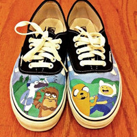 Regular Show/Adeventure Time Custom Vans