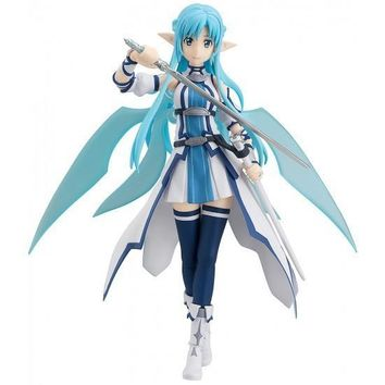 Anime Figma Figure Sword Art Figma  Yuuki Asuna Sao ALO PVC Action Figure Collection Model Toys
