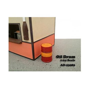 Oil Drum Accessory Set of 2 For 1:24 Scale Models by American Diorama